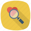 favourite, find, glass, magnifier, magnifying, wishlist, zoom icon