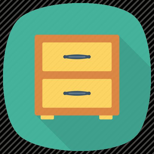 cabinet, drawer, drawerhandle, drawers, furniture, storage, wood icon