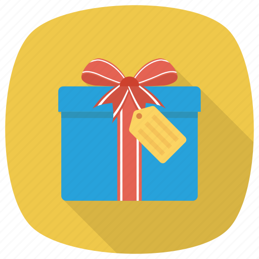 Box, shopping, gift, christmas, ribbon, xmas, present icon