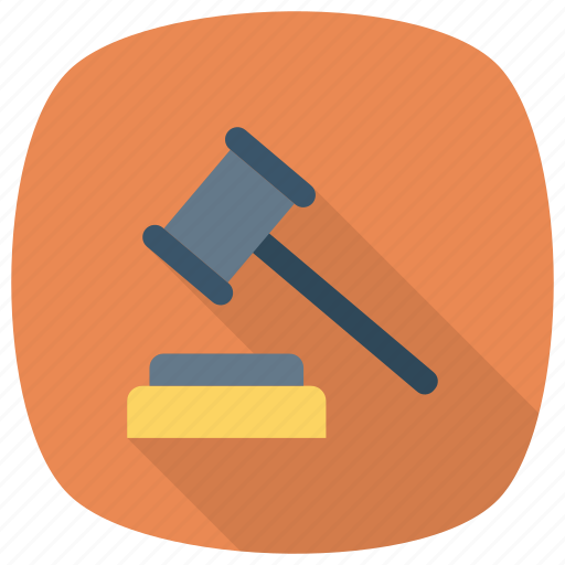 court, gavel, hammer, justice, law, police, tool icon