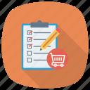 cart, checklist, ecommerce, shipping, shop, shopping, shoppingcart icon