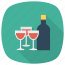 alcohol, beer, bottle, drink, glass, redwine, wine icon
