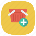 add, addtocart, cart, ecommerce, plus, shop, shopping icon