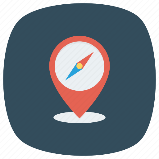 compass, direction, gps, location, map, navigation, pin icon
