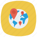 global, location, map, navigation, pin, shop, shopping icon