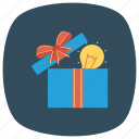 box, bulb, gift, greatgiftidea, idea, light, present icon