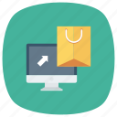 cart, ecommerce, online, onlineshopping, onlinestore, shop, shoppingbag icon