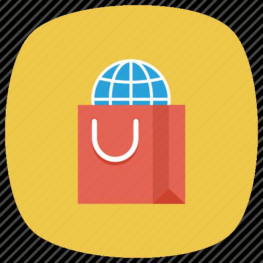 buy, ecommerce, global, international, shop, shopping, shoppingbag icon