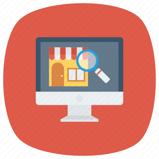 find, online, search, shop, shopping, store, web icon