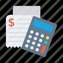 shopping, calculate, calculation, calculator, receipt, accounting, math