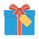 box, christmas, gift, present, ribbon, shopping, xmas icon