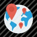 global, location, map, navigation, pin, shop, shopping icon