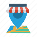 shop, map, shopping, pin, location, navigation, gps