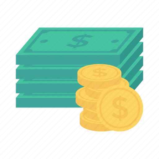 bank, cash, coins, currency, dollar, finance, money icon