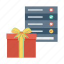 box, checklist, christmas, gift, present, presentlist, wishlist icon