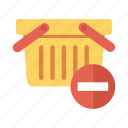 basket, delete, ecommerce, remove, shop, shopping, shoppingbasket icon