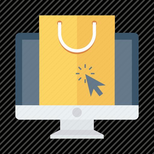 ecommerce, online, onlineshopping, onlinestore, shipping, shop, shoppingbag icon