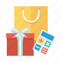 calculator, ecommerce, gift, present, shop, shopping, shoppingbag icon