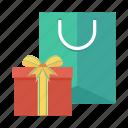 shop, shopping, gift, cart, shoppingbag, ecommerce, present