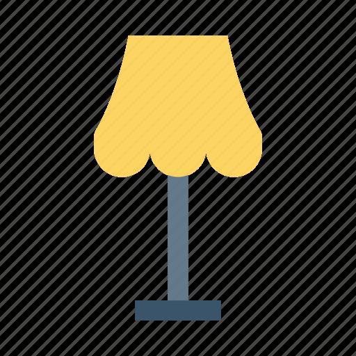 Floorlamp, desk, lamp, light, table, bulb, furniture icon