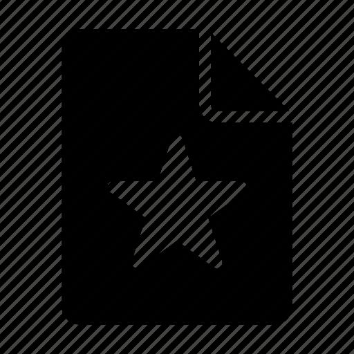 archive, document, favorite, file, star icon