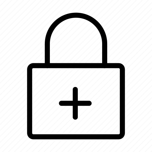Add, lock, plus, private, secure icon - Download on Iconfinder