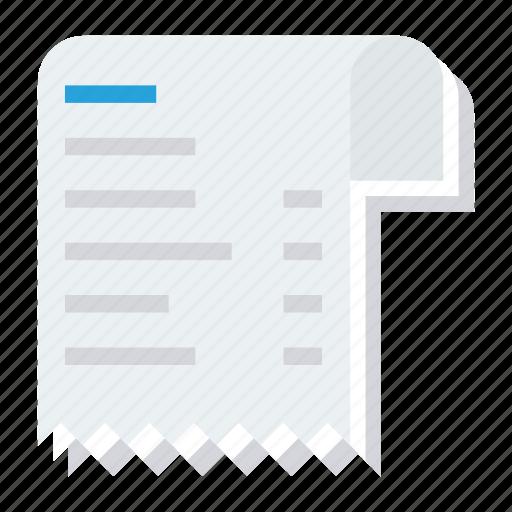 Tillreceipt, bill, receipt, receipticon, invoice, document, payment icon