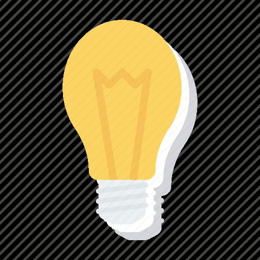 Lightbulb, blub, idea, solution, bright, splash icon