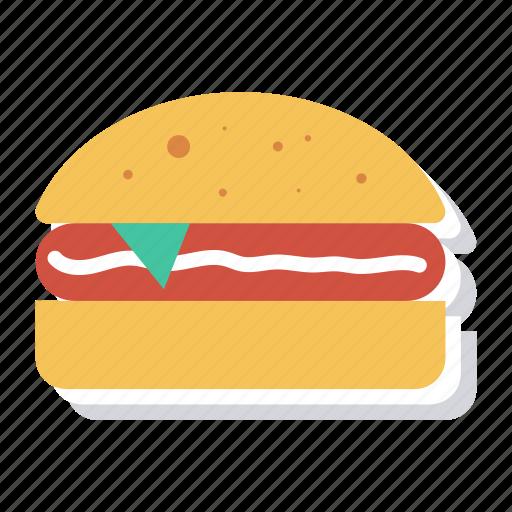 Burger, chickenburger, fast, food, hamburger, junk, sandwich icon - Download on Iconfinder