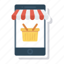 mobile, onlineshopping, phone, shop, shopping, smartphone, store icon