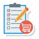 cart, checklist, ecommerce, shipping, shop, shopping, shoppingcart icon