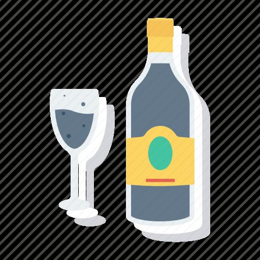Alcohol, beer, bottle, drink, glass, wine, winetasting icon - Download on Iconfinder