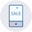 discount, mobile, offer, online sailing, phone, sale icon