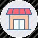 building, market, market store, shop, shopping market, store icon