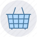 basket, clothes basket, curb, ecommerce, shopping, shopping basket icon