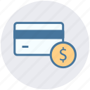 atm card, card, credit, credit card, debit card, dollar icon