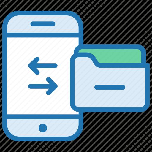backup, data transfer, exchange, folder, mobile, sell data icon
