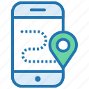 gps, location, mobile application, pointer, route, shopping icon