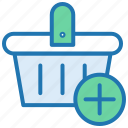 add product, cart, ecommerce, new, shopping, shopping basket icon