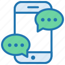 chat, communication, delivery, message, notification, shopping, support icon