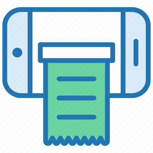 Bill, invoice, mobile, mobile application, payment, receipt, shopping list icon - Download on Iconfinder