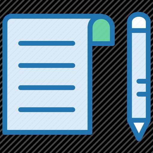 agreement, change, contract, document, edit, pen icon
