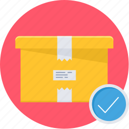 box, delivered, delivery, gift, package, shopping icon