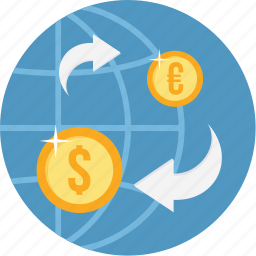 business, convert, currency, finance, money, payment, transfer icon