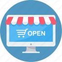 buy, ecommerce, online, open, shopping, store, website icon