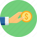 business, cash, currency, finance, money, payment, shopping icon