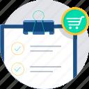 list, shopping, buy, cart, ecommerce, itemlist
