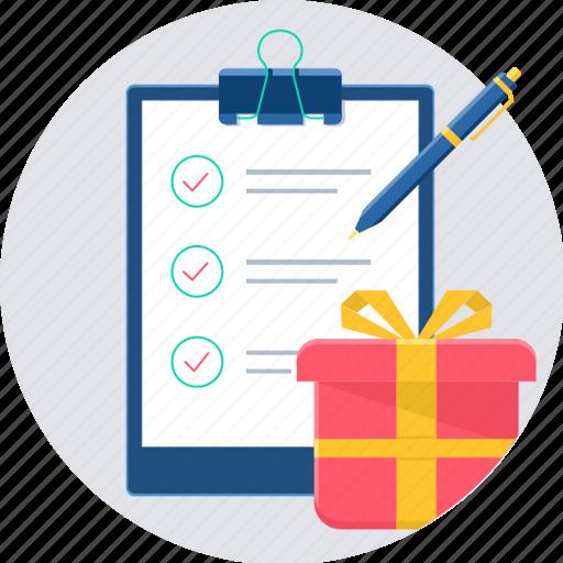 checklist, itemlist, list, shop, shopping icon