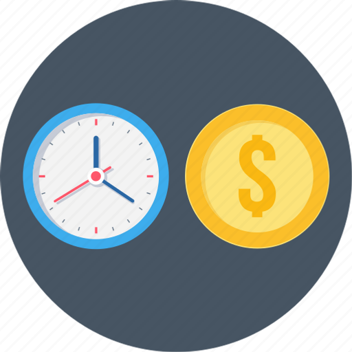 clock, money, time, time is money, timer, watch icon