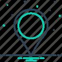 destination, direction, gps, location mark, navigation, position, sign icon